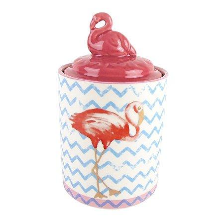 Pote Flamingo Decorativo Médio