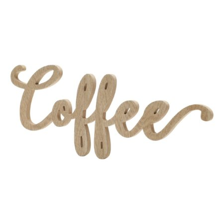 Palavra Coffee em MDF