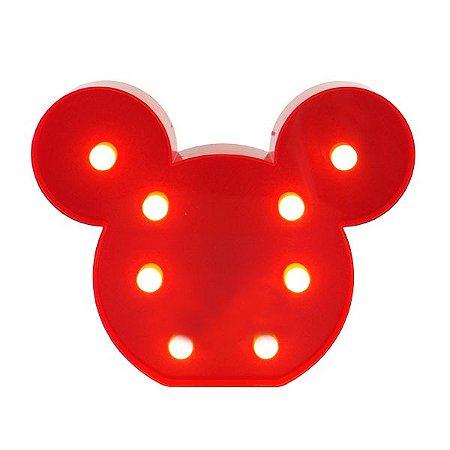 Luminária Mickey Mouse Vermelha