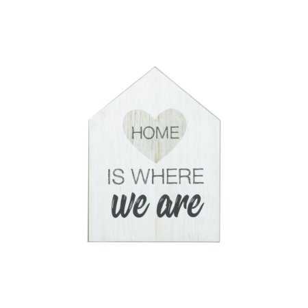 "Quadro Casinha ""Home is We Are"""