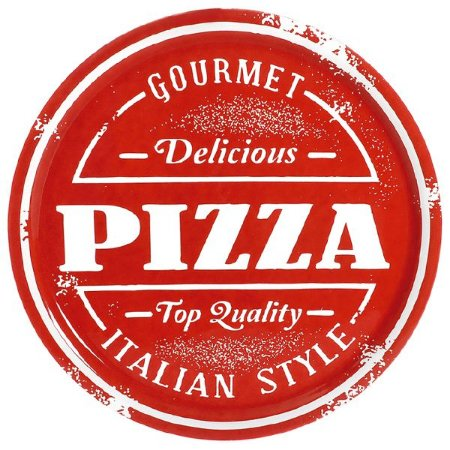 Prato Para Pizza Vermelho
