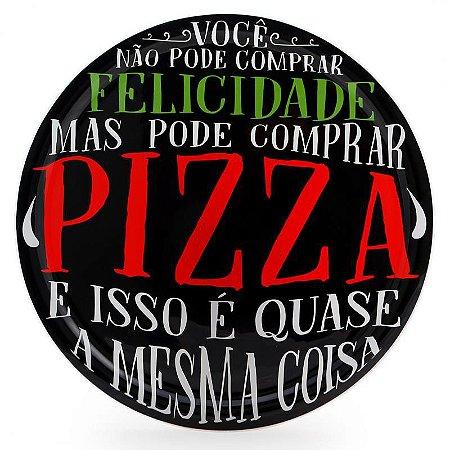 Prato Para Pizza - Felicidade