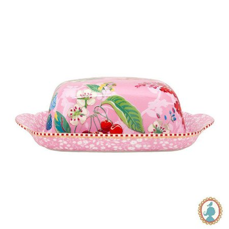 Manteigueira Hummingbirds Rosa – Floral – Pip Studio®