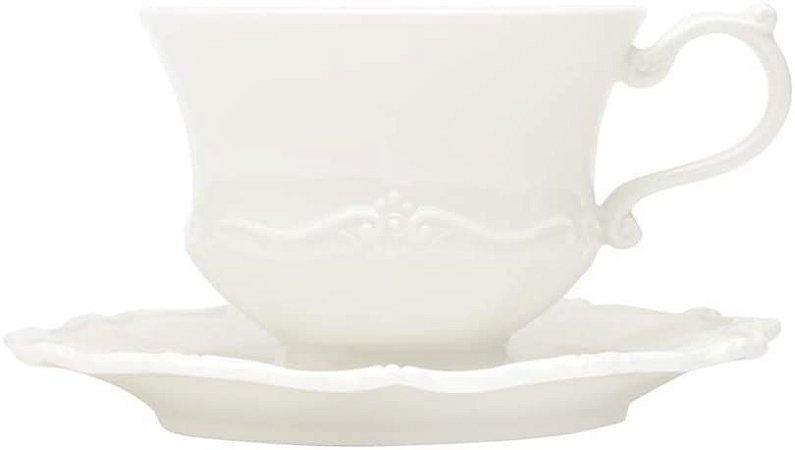 Conjunto de 6 xícaras de Chá Fancy Branco- Wolff