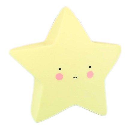Luminária Led Estrela Amarela