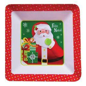 Prato de Melamina - Papai Noel