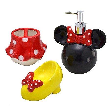 Kit para banheiro Minnie Mouse Parts