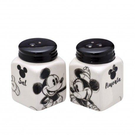 Saleiro e Pimenteiro Mickey Grafite