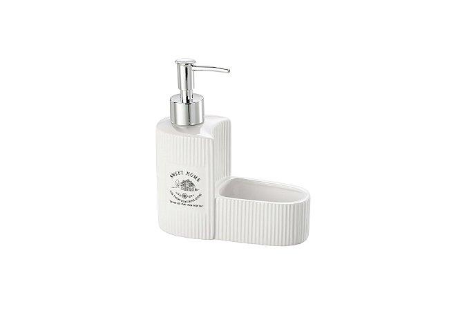 Porta Detergente em Cerâmica Sweet Home