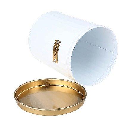 Pote Para Biscoito Branco e Dourado - Hauskraft