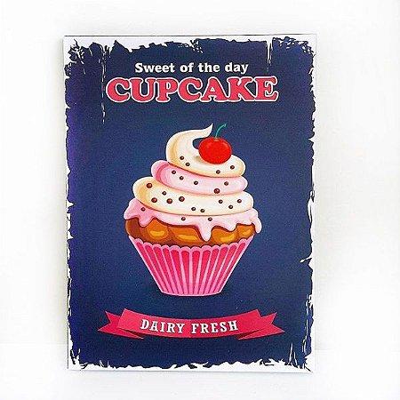 Quadro Cupcake Cereja  Grande