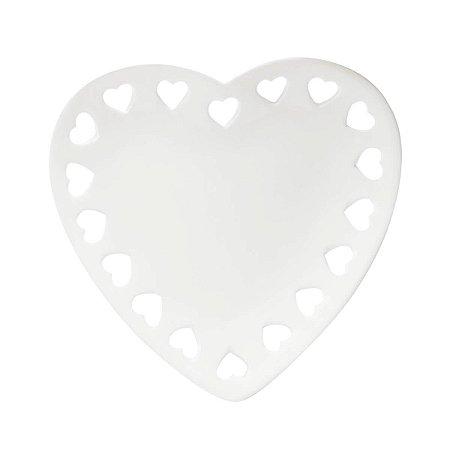 Travessa Coração de Porcelana Coração - Pequena