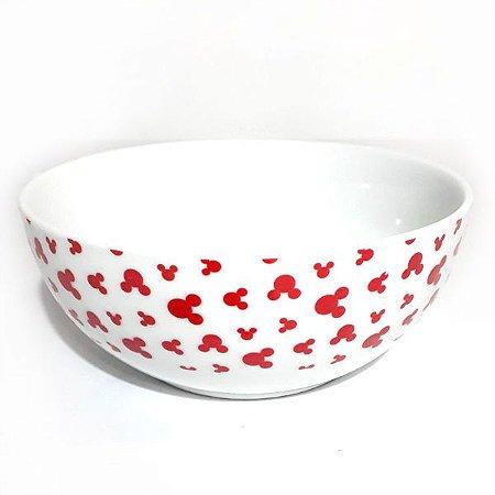 Bowl - Mickey Borda Branca com Vermelho