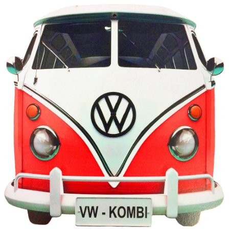 Placa Decorativa Retrô Kombi