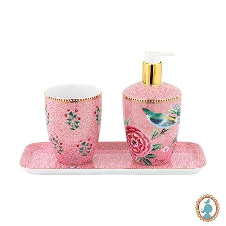 Set Banheiro 03 Peças Rosa – Good Morning – Pip Studio