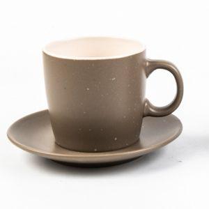 Conjunto de 4 Xícaras de Chá Cerâmica Granilite  Cinza 200ml