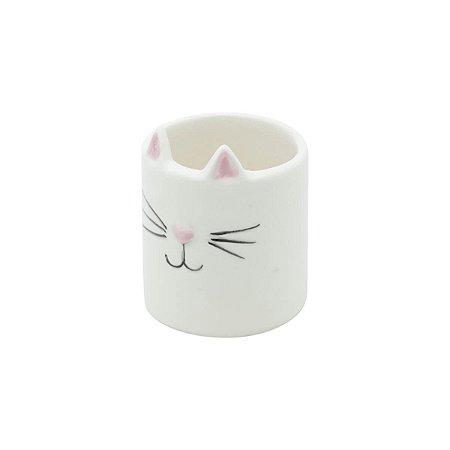 Cachepot Cerâmica Cat Face