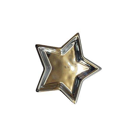 Porta Anéis Shine Estrela Prata
