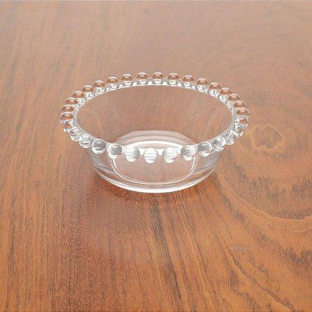 Bowl Decorativo Borda de Bolinhas Vidro Clear 12 cm