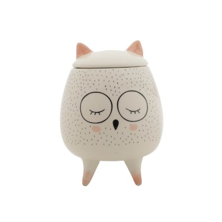Pote Decorativo de Cerâmica Sleep Owl