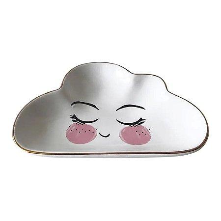 Prato Decorativo Rostinho Nuvem