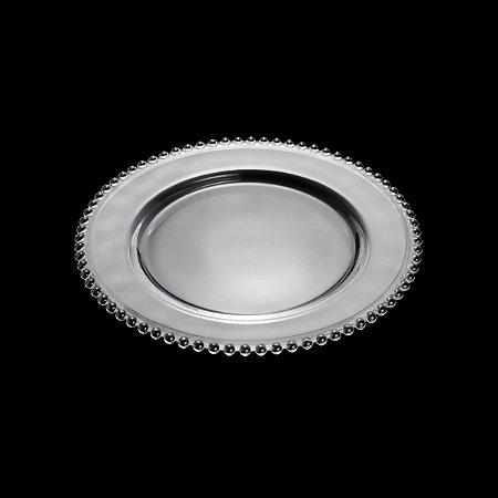 Prato de Cristal de Chumbo Pearl Clear 27cm - Wolff