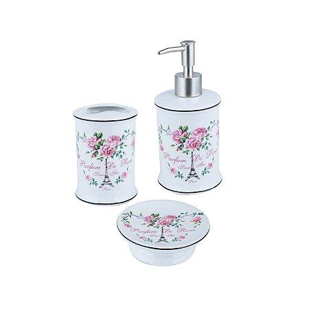 Kit para Banheiro Paris Flowers