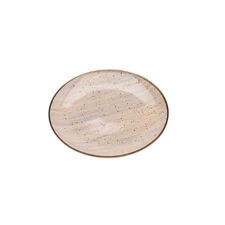 Prato de Sobremesa Watercolor Cinza - Bom Gourmet