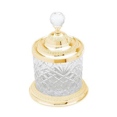 Pote Multiuso de Zamac Cristal Dourado Médio - Lyor