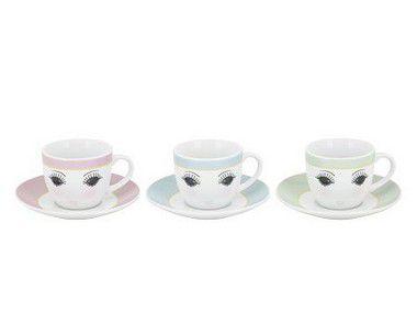 Jogo de 6 Xícaras para Chá- Olhinhos
