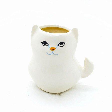 Cachepot Gato Gordo Branco