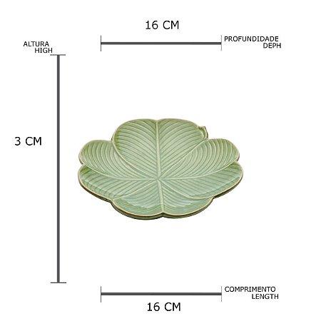 Petisqueira Banana Leaf Verde Pequena