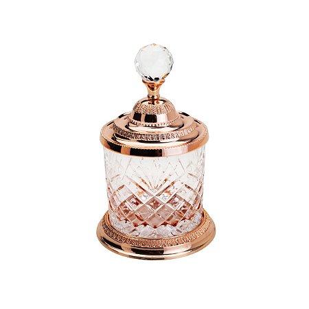 Pote Multiuso de Zamac Cristal Rose Gold Médio - Lyor