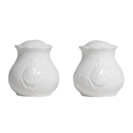 Saleiros e Pimenteiro de Porcelana Queen