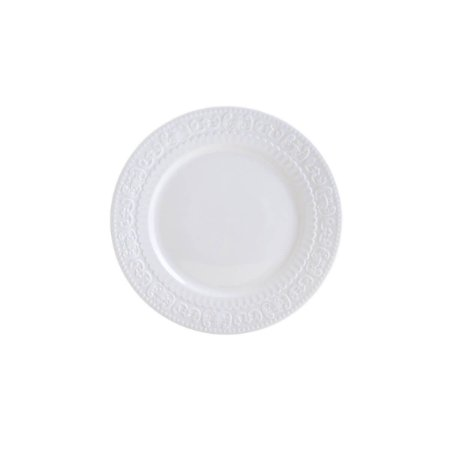 Prato de Sobremesa Porcelana New Bone Angel Branco - Lyor