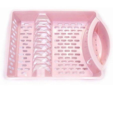 Escorredor de Louça Plástico Rosa Grande- Paramount