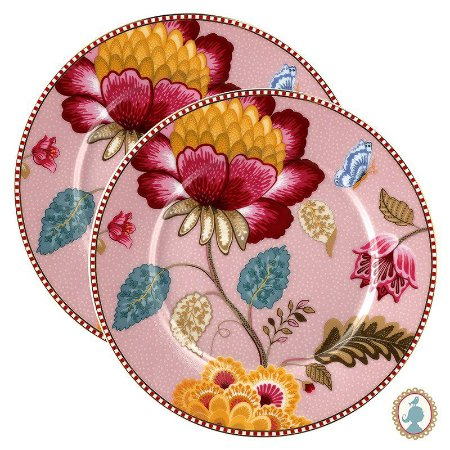 Set/2 Pratos de Pão Rosa - Floral Fantasy - Pip Studio