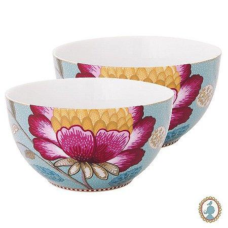 Set 2 Tigela 15 Azul - Floral Fantasy - Pip Studio