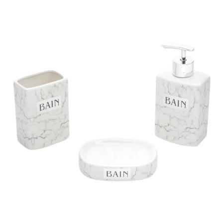 Kit para Banheiro - Cerâmica Mármore