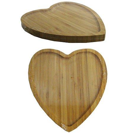 Petisqueira de Bambu Coração 14,5 cm