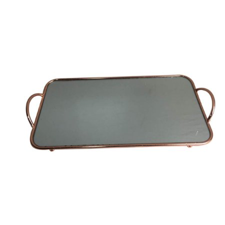 Bandeja de Metal Square MIrror Cobre