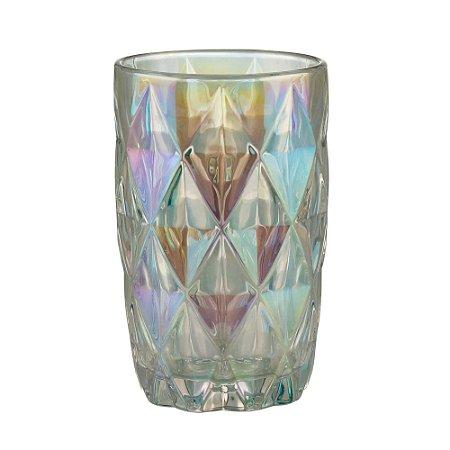 Conjunto de 06 Copos Vidro Diamond Rainbow - Lyor