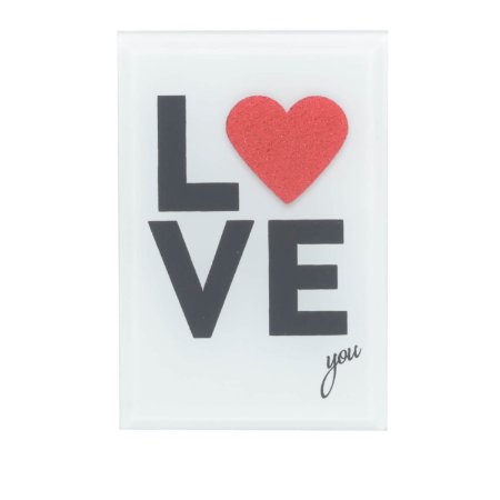 Placa de Vidro Mesa Decor My Love