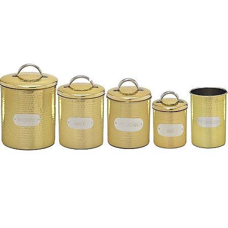 Kit Cozinha Dourado