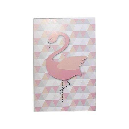 Quadrinho Triângulos Flamingo
