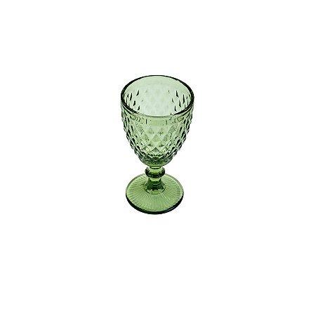 Jogo de 6 Taças Água Bico de Abacaxi Verde