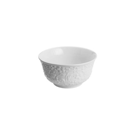Bowl de Porcelana New Bone Flowers Branco - Lyor