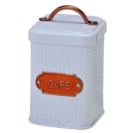 Lata Para Café com Puxador Cobre