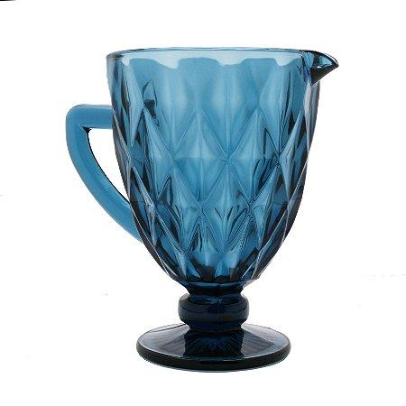 Jarra de Vidro Diamond Azul