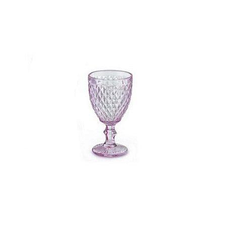 Taça de Vinho Bico de Abacaxi Rosa - Unidade